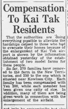"""Compensation to Kai Tak residents"""