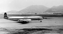 BOAC Comet 4 G-APDJ at Kai Tak - late 1960's