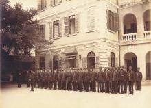 1890s Police in parade ground