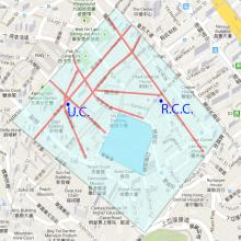 Map of area around Central Police Station