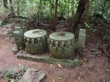 Remains of sugar cane press, Tai Lo Village, Sai Kung.