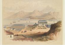 April 1847. View of the Bay of Victoria, Hong-Kong, and part of the Military Cantonment