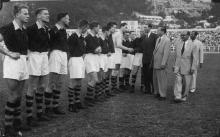 Gwulo football team visiting Hong Kong 1950s