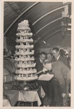 Governor Cutting Cake at Ninth Exhibition