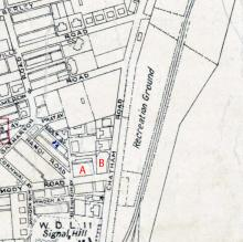 1947 Map of Kowloon near Chatham Road