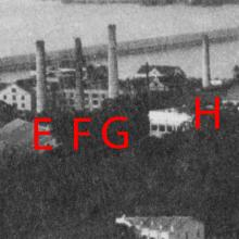 Chimneys: E, F, G, H