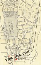 Sketched Map of Tsim Sha Tsui, 1930s or 1940s