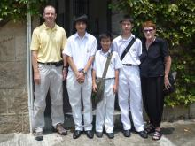 With the student docents at St Stephen's College