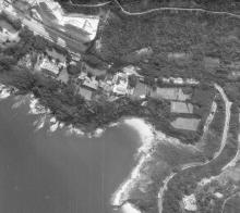 Aerial view of Tai Tam, circa 1970