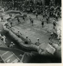 Coronation Parade 1953 Nathan Rd Dragon Dancing (93)