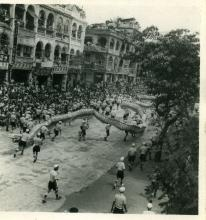 Coronation Parade 1953 Nathan Rd Dragon Dancing (95)
