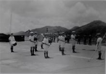 Flight Deck - HMS Unicorn Arriving HK 1953