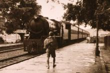 KCR Steam Train at Fanling Station 1953