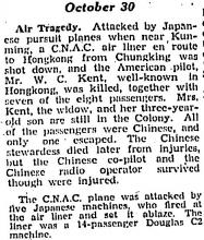1940 CNAC Air Crash