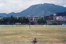 1998 Kai Tak Airport looking towards Checkerboard Hill and Beacon Hill