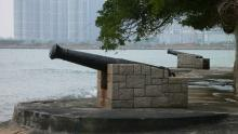 Cannons at Kadoorie Beach-November 2012