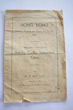Cover Page of Booklet 'HONG KONG Before, During and After the Pacific War'