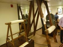 Flogging stands on display in the CSD museum