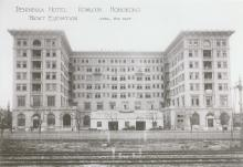 Peninsula Hotel-photograph annotated with a date
