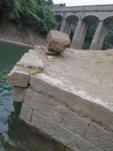 Ruins of bridge in Tai Tam Valley
