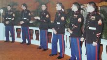 The marine guard, except those on duty outside.