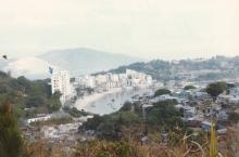 Stanley, HK late 1970s view of MaHang squatter area, Sea and Sky Court