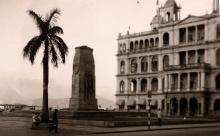Hong Kong Club & Cenotaph - 1953