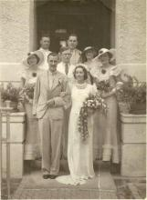 A wedding picture in August 1936