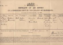 Birth certificate: William Oswald Olson