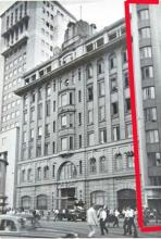 Fu House, highlighted in red, adjacent to the Bank of Canton Building