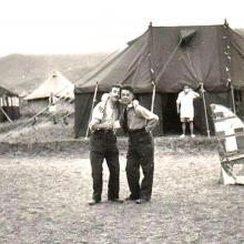 Two RAF Chaps with A W Wood in Background