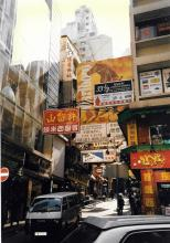view from double decker bus 1997