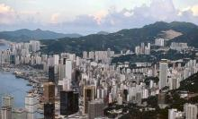 1983 - Wanchai and Causeway Bay from the Peak