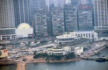 1986 - helicopter view of Yacht Club