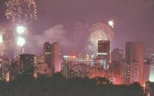 1982 - Lunar New Year Fireworks from Jardine's Lookout