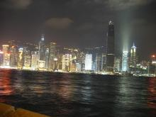 2002 - Hong Kong Island waterfront at night