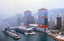 1986 - helicopter view of  Hong Kong Macau Ferry Terminal
