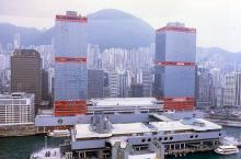1986 - helicopter view of Macau ferry terminal
