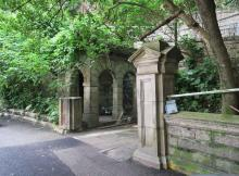 BMH gateposts and gatehouse