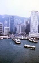 1986 - helicopter view of Star Ferry