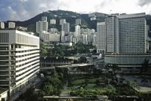 Chater Garden and Hong Kong Hilton (1980)
