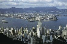 Central and Kowloon from the Peak (1980)