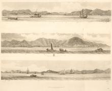 1845 Heath's panorama of Hong Kong
