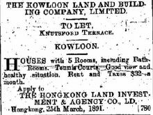 1891 Knutsford Terrace - To Let Advertisment