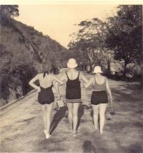1937 Going swimming.