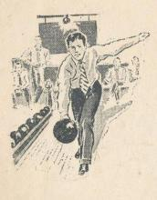 1938 Hong Kong Bowling Alleys' Advertisement