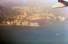 1992 - flying into Hong Kong