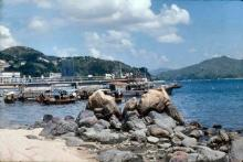 1980 - at ferry pier to Ma Wan
