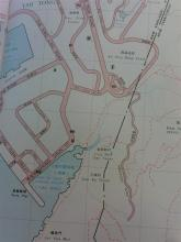 Map showing Southern end of Anderson Road, circa late 1960s