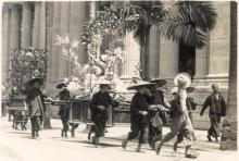 Carrying displays on street